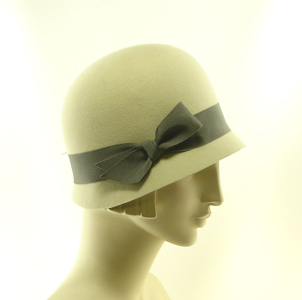 Easy Cloche Hat for Women Off White Hat by TheMillineryShop
