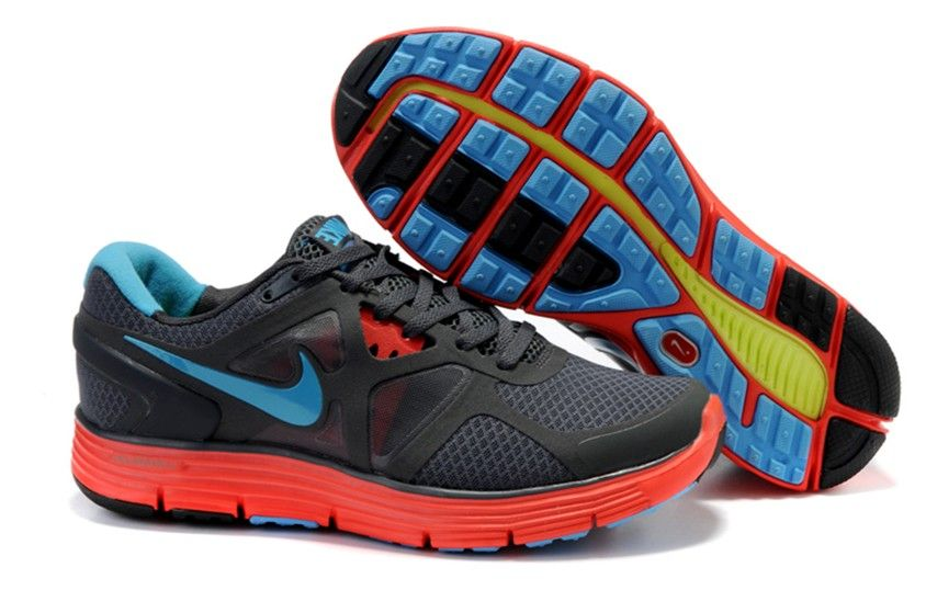 Womens Nike Lunarglide 3 Anthracite/Blue Glow-Black-Solar Red Shoes