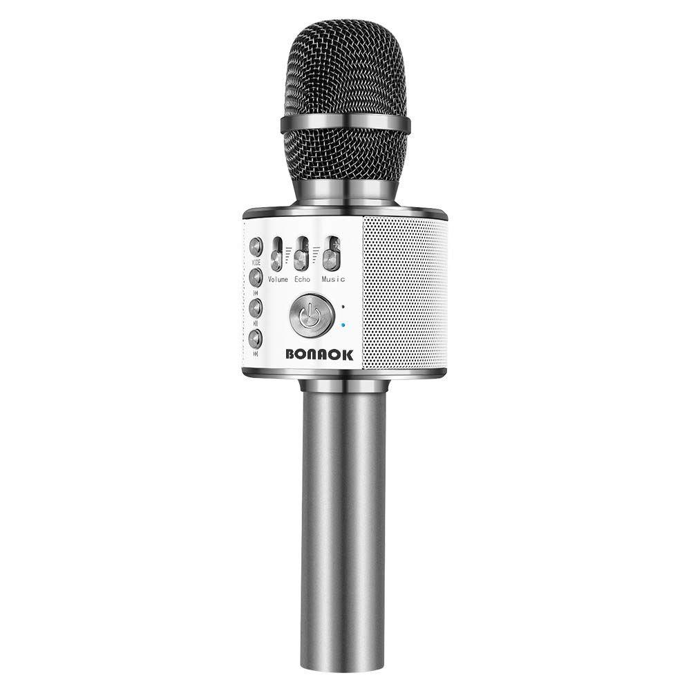 BONAOK Wireless Bluetooth Karaoke Microphone,3