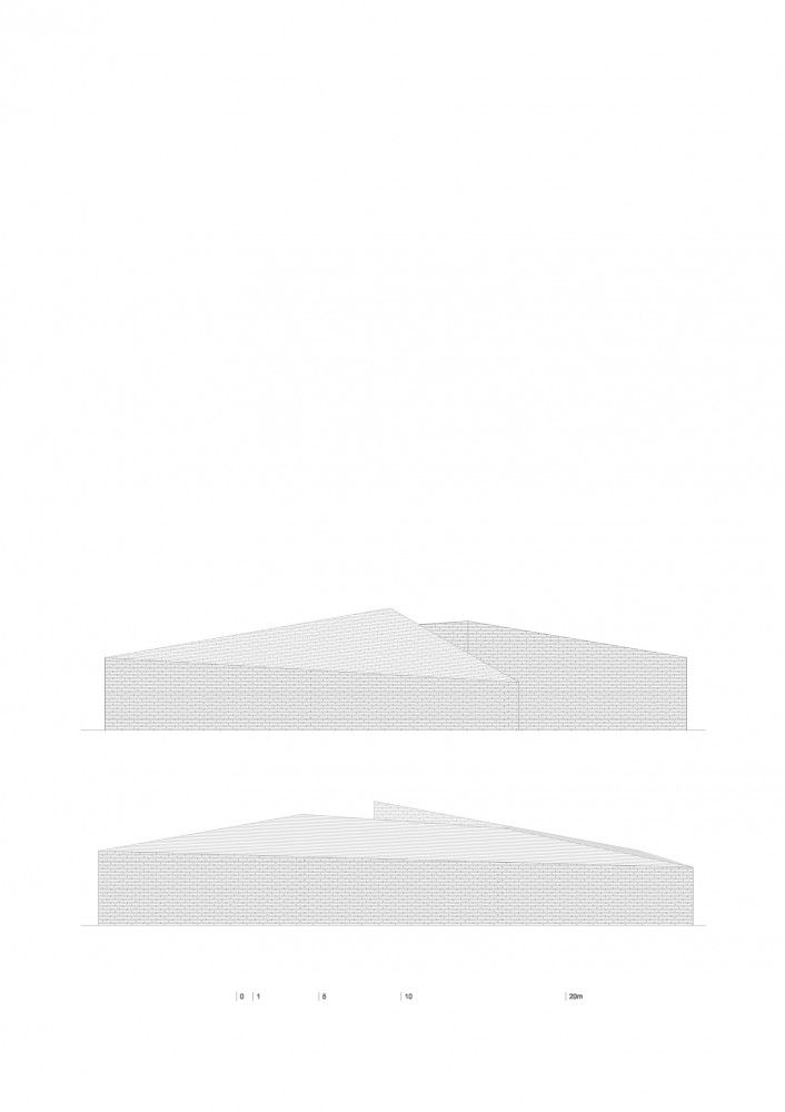 Building in Lagoa das Furnas / Aires Mateus -  elevations detailed