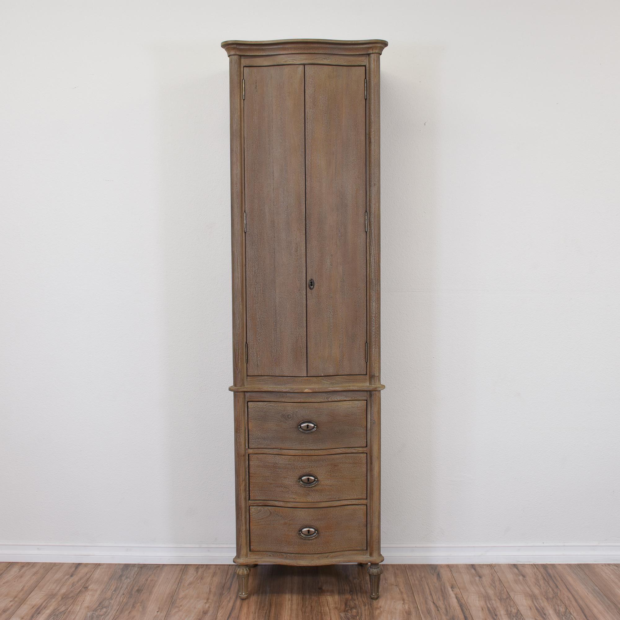 Your home improvements refference solid wood wardrobe closet -  Restoration Hardware Tall Narrow Wardrobe
