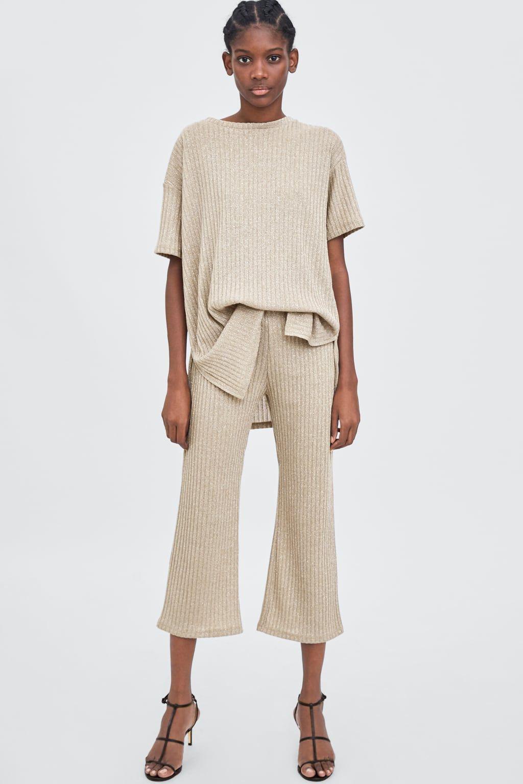 f28d5462 Ribbed culottes | Fashion, Style & Outfit Inspo | Zara women, Zara ...