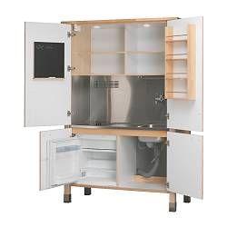 Miniküche ikea  Ikea VÄRDE Mini-Küche mit Edelstahl-Spüle mit Mischbatterie ...