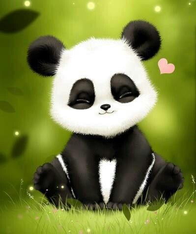 Panda Mignon Assis Vraiment Trop Mignon Dessin Animaux
