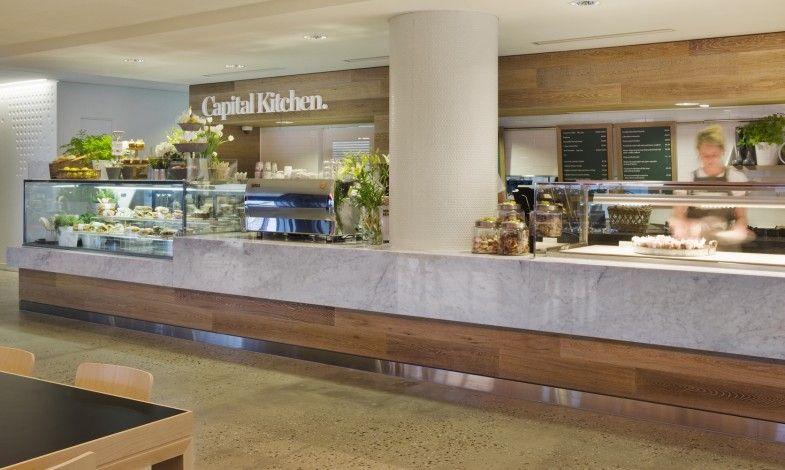 myer capital kitchen mim design carrara marble wood - Marble Cafe Decoration