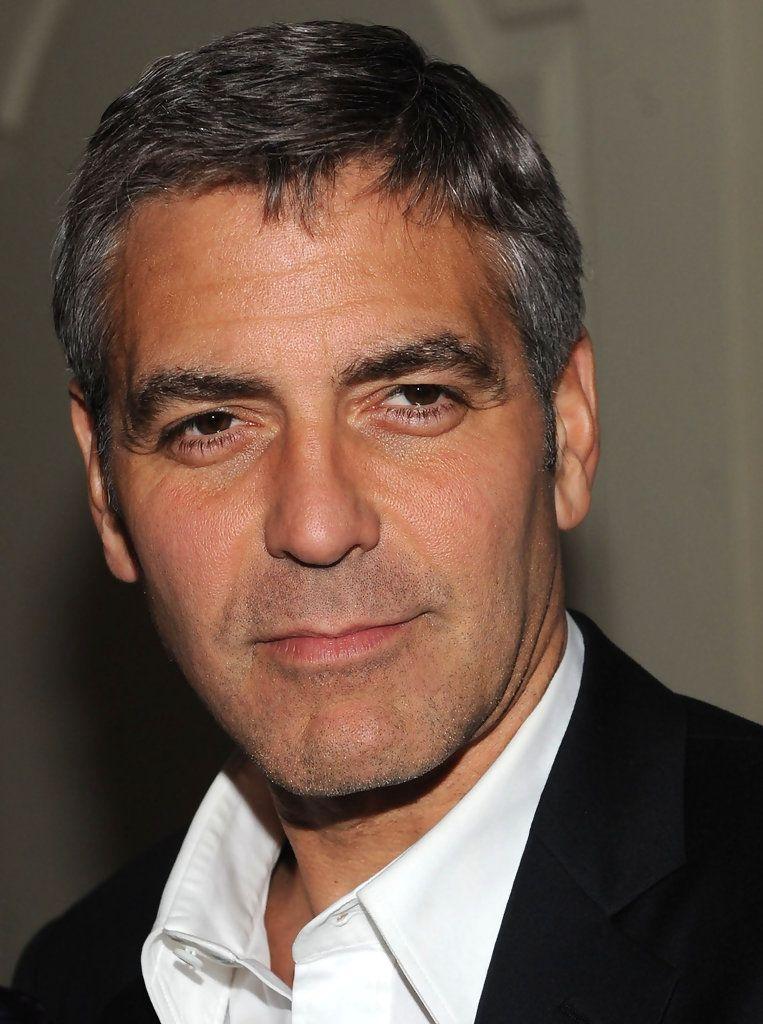 George Clooney Short Side Part George Clooney Hair George Clooney Mens Hairstyles