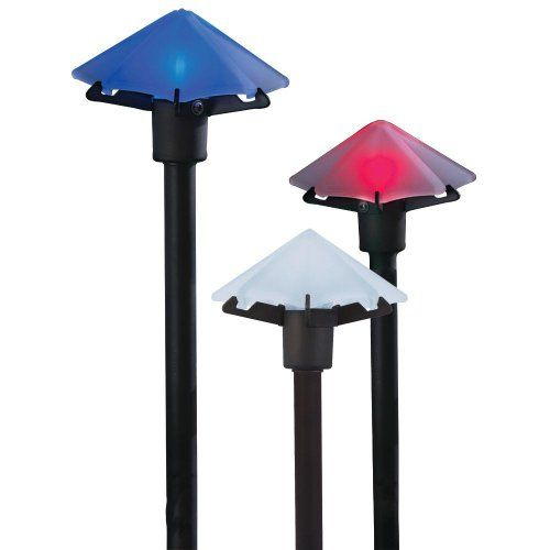 3light Bronze Low Voltage Flower Path Light Outdoor Lights