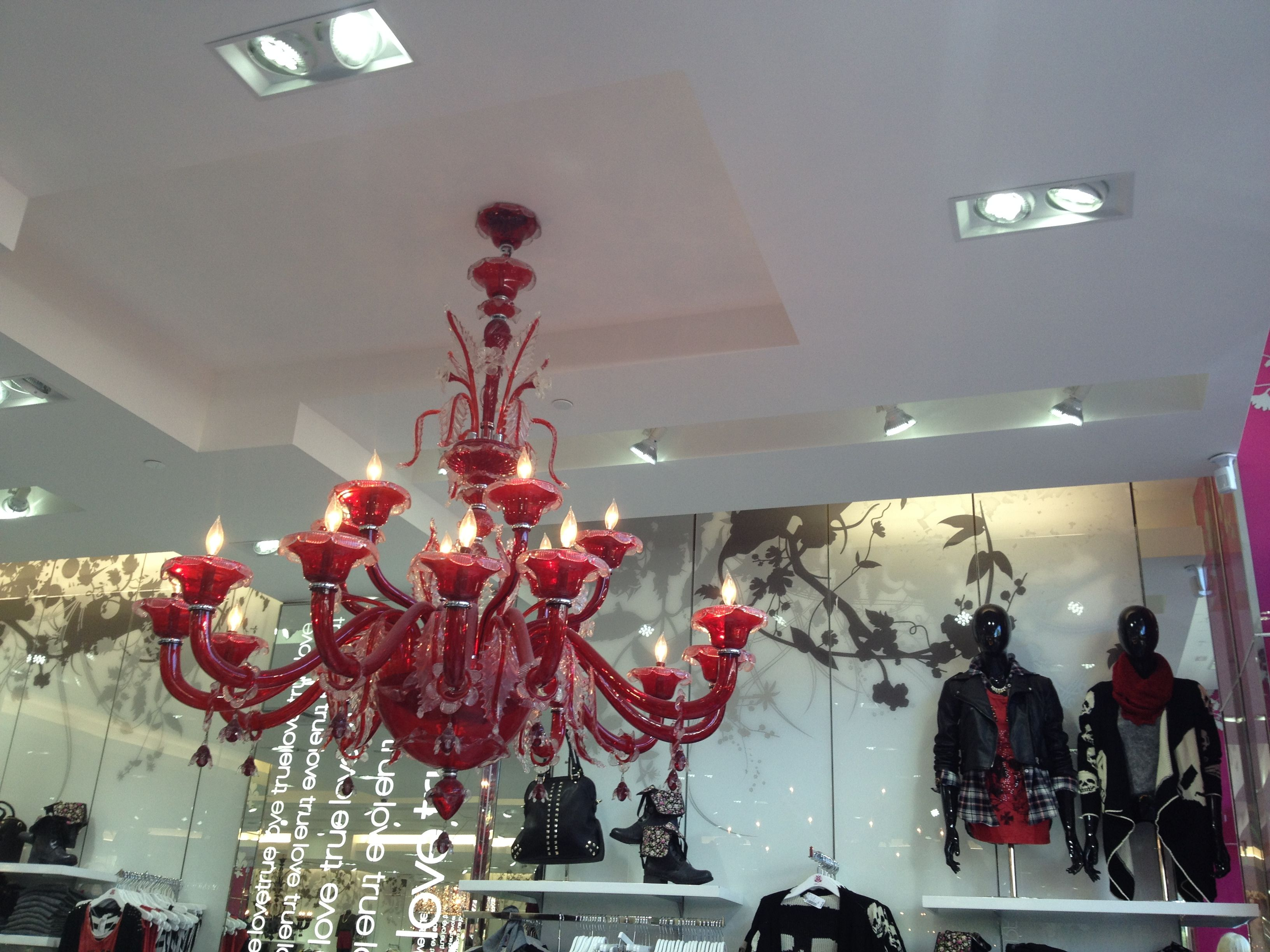 Red murano glass chandelier love culture store shops at la cantera red murano glass chandelier love culture store shops at la cantera san antonio tx aloadofball Image collections