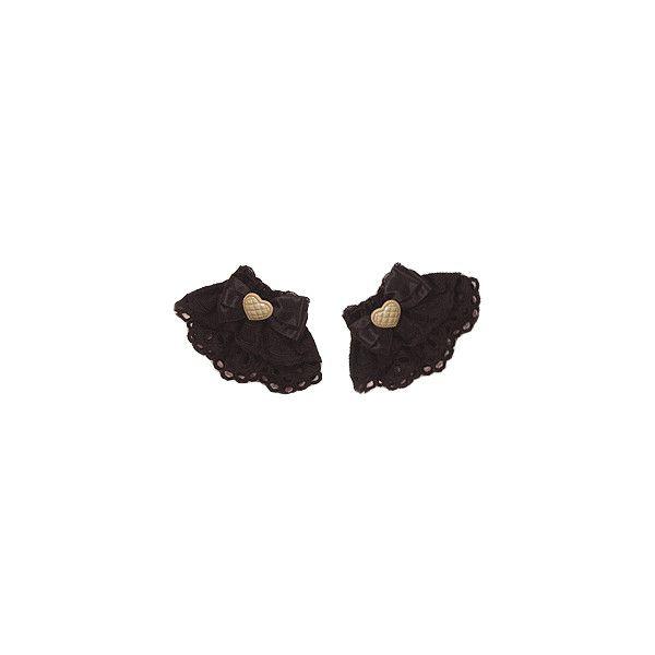 Wonder Cookie Wrist Cuffs : Angelic Pretty ❤ liked on Polyvore featuring gloves, cuffs, lolita, accessories and wristcuffs