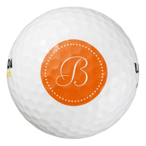 Monogram Orange with Dots Pack Of Golf Balls