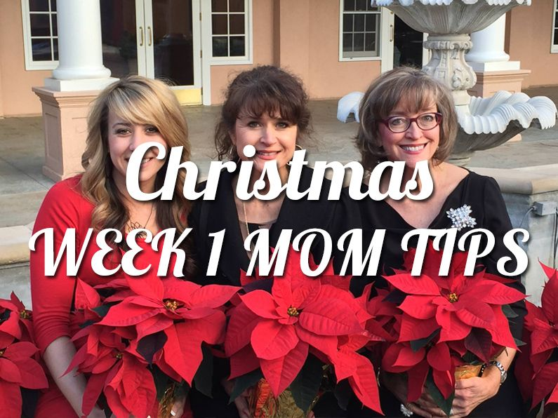 """As I (Krystle) read through this week's """"Mom Tips"""" getting us ready for the Christmas season, I was blown away by both the wisdom and practicality! If I even were to accomplish just a couple of these tips, my Christmas would be WAY less stressful and much more peaceful!  Join us!!"""