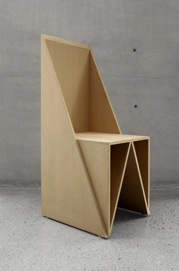 Triangular Chair Par S AR Stacion ARquitectura
