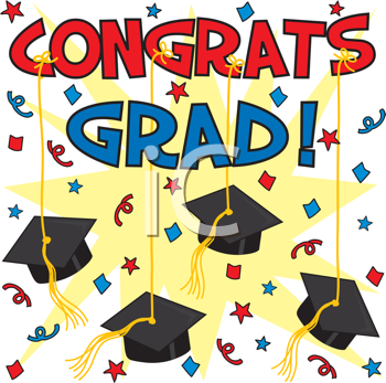 Graduation background. Royalty free clipart image