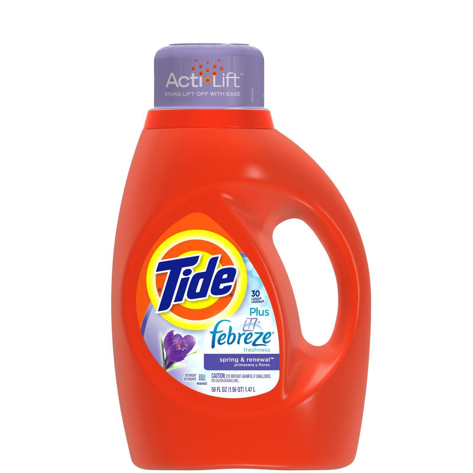 Tide With Febreze Freshness Liquid Detergentwith Actilift Spring Renewal Tide Liquid Detergent Liquid Laundry Detergent Laundry Detergent