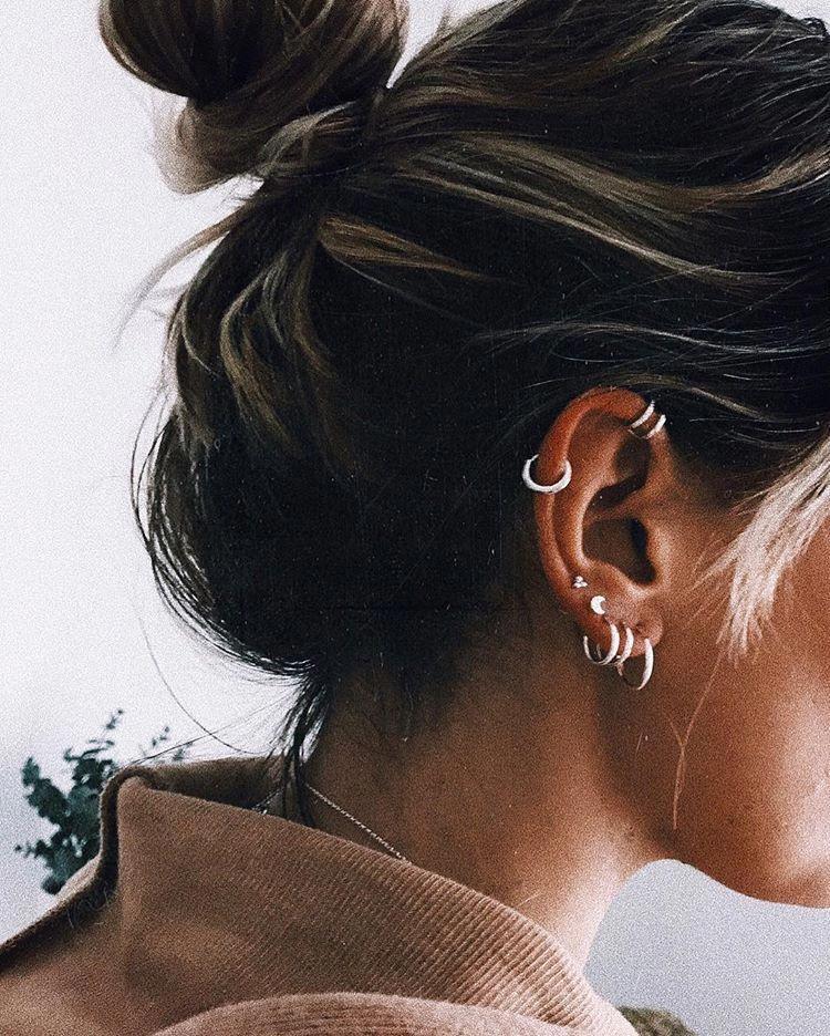 Diamond Open Hoops in Sterling Silver, silver hoop earrings, silver open hoops, diamond shape earrings, geometric earrings, silver - Fine Jewelry Ideas #earpiercingideas