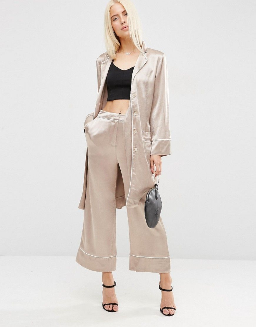 25a8c9690d32 Longline Pajama Blazer with Piping Detail | Trend FW17: Head to Toe ...