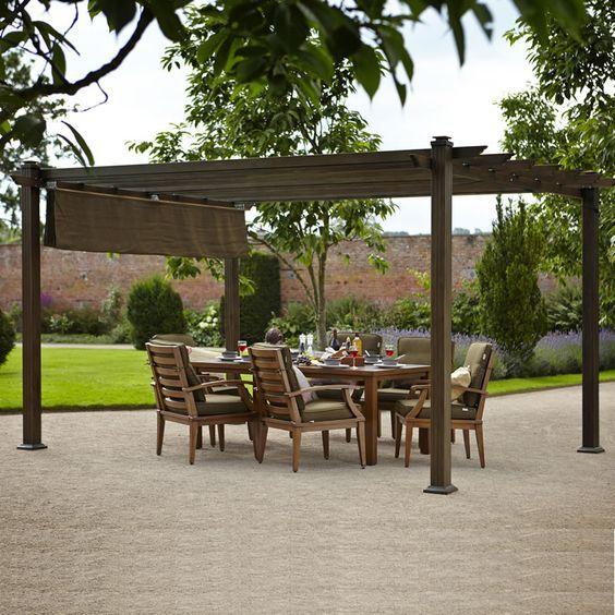Furniture. Hartman Napoli Pergola 3m x 3m Bronze    68607662    Garden