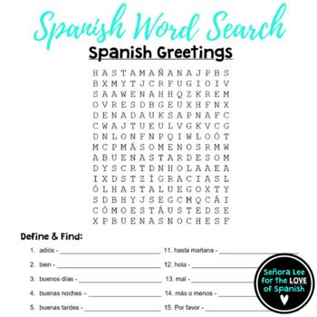 Spanish greetings word search elementary spanish pinterest spanish greetings word search elementary spanish m4hsunfo