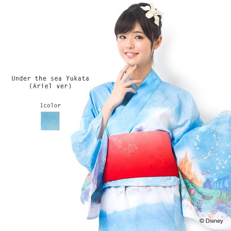 kimono daisuki // tumblr.com: disneyjapan: Secret Honey's 2015Ariel yuakata. I...