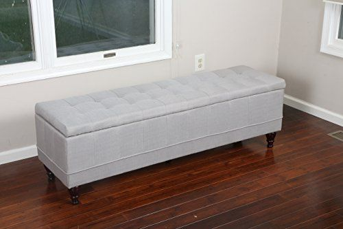 "Extra Long Storage Bench Entrancing Home Life 59"" X 17"" Extra Long Front Of Bed Storage Lift Https Inspiration Design"