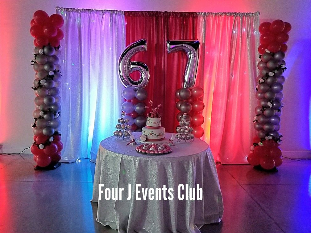 67 Happy Birthday. Perfect indoor party place for adults