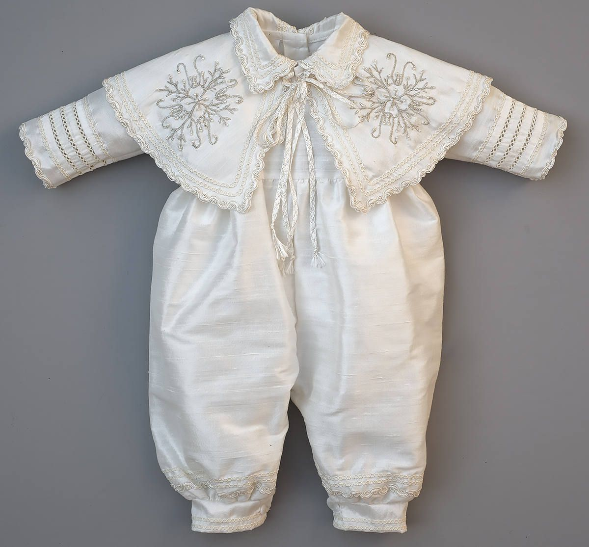 Hand Embroidered Christening Outfit Boys