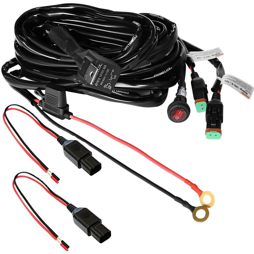 primelux pwh 011602 12ft 16 gauge relay wiring harness for led light bars 12v 40a relay 3 pin on off rocker switch waterproof fuse holder blade fuse  [ 1000 x 1000 Pixel ]