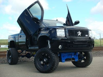 #Gmc #Sierra Crew Lambo Doors 4x4 Over $ 70k Invested Custom Lifted Sema Show Truck    	  Price:	  $49995  Make:	#Gmc  Model:	Sierra 1500  Body type:	Pickup Truck  Condition:	Used  Mileage:	60000  Engine:	6.0l 8 Cylinder Gasoline ...  Exterior Color:	Black  Interior Color:	Black  Fuel type:	#Gasoline  Location:	95819, Sacramento, Ca #Custom #Trucks #Lifted #Pickup #Rvinyl  ========================== http://www.rvinyl.com