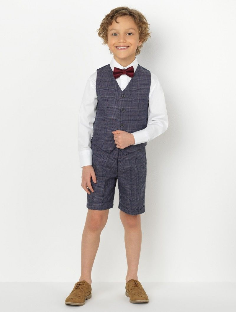 269d73288 Shop for boys navy check short suit at Roco. Perfect as a page boy suit  with free UK delivery & 30 day returns.