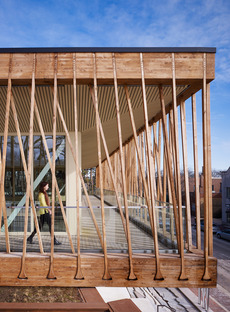 Studio Gang's wooden tensile structure for the Writers Theatre   | Floornature