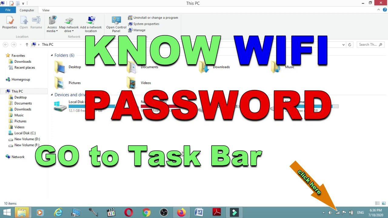 How to see WIFI password windows 10, 8, 7 and moreFind