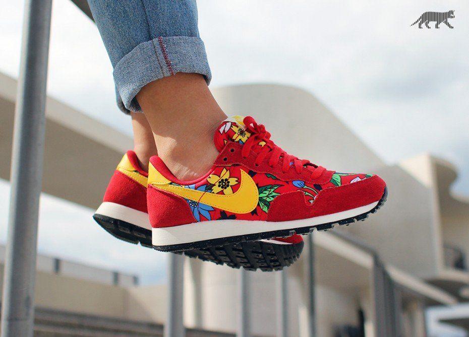 los angeles 4232a 5edd0 Nike Wmns Air Pegasus 83 Print *Aloha Pack* (University Red / Tour Yellow -  University Red)