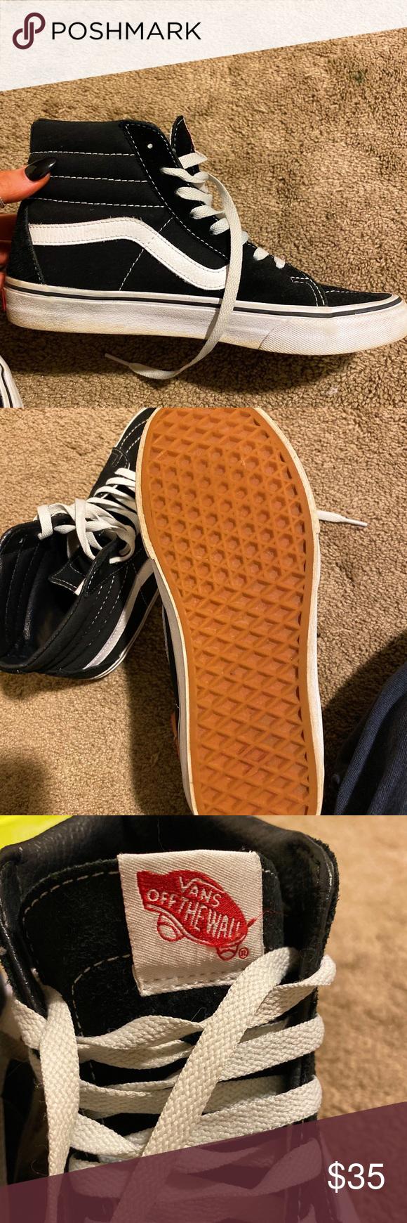 Skate high Vans in Black:) worn once!!! Vans Shoes Sneakers