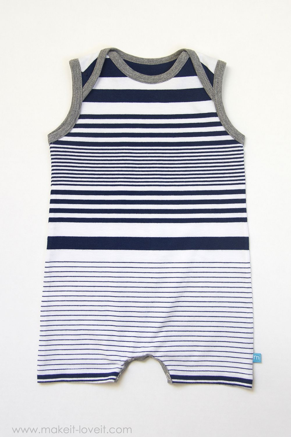 7a5f699d7 Tank Top Romper with Envelope Neckline (...from an old Tshirt)