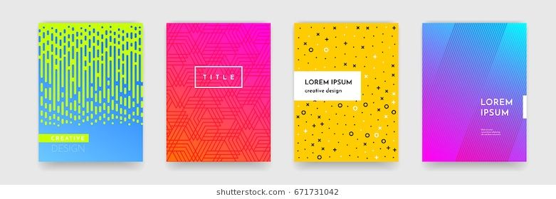Abstract Geometric Line Pattern Background For Business Brochure