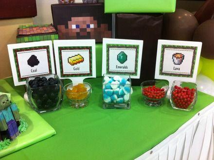 decoracin de cumpleaos tematica minecraft managua fiestas y eventos