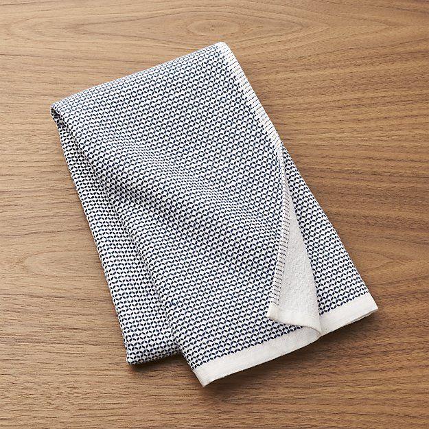 Blue Textured Terry Dish Towel Crate And Barrel P Flats Units
