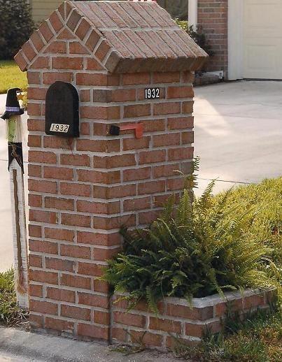 Different Styles Of Brick Mailboxes Build A Mailbox Brick Mailbox Mailbox Landscaping Stone Mailbox