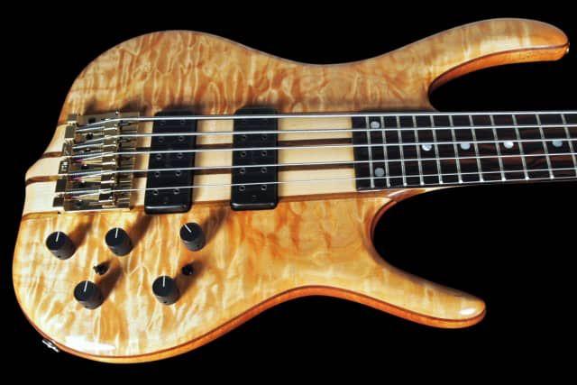 2016 Ken Smith 5EG Elite Exhibition Grade Quilt Top 5-String Bass w 18v Preamp ~ Natural / Blonde