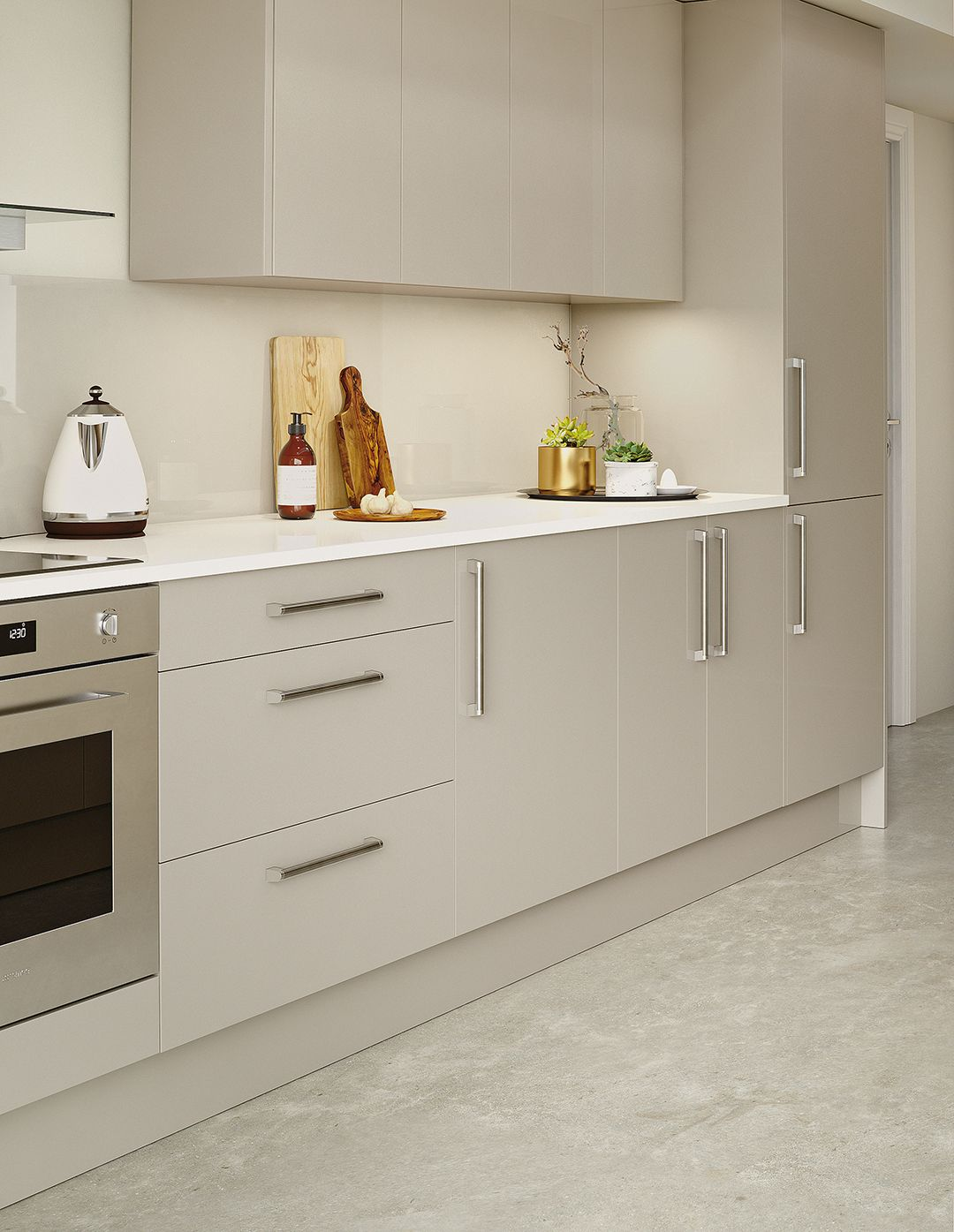 The Glaze kit+kaboodle kitchen range from Homebase has a range of ...