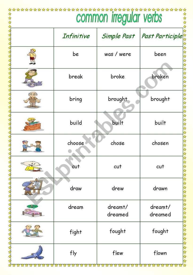 Irregular Verbs Worksheet 2nd Grade Irregular Verbs Esl Worksheet By Delazaro Verb Worksheets 2nd Grade Worksheets Irregular Verbs