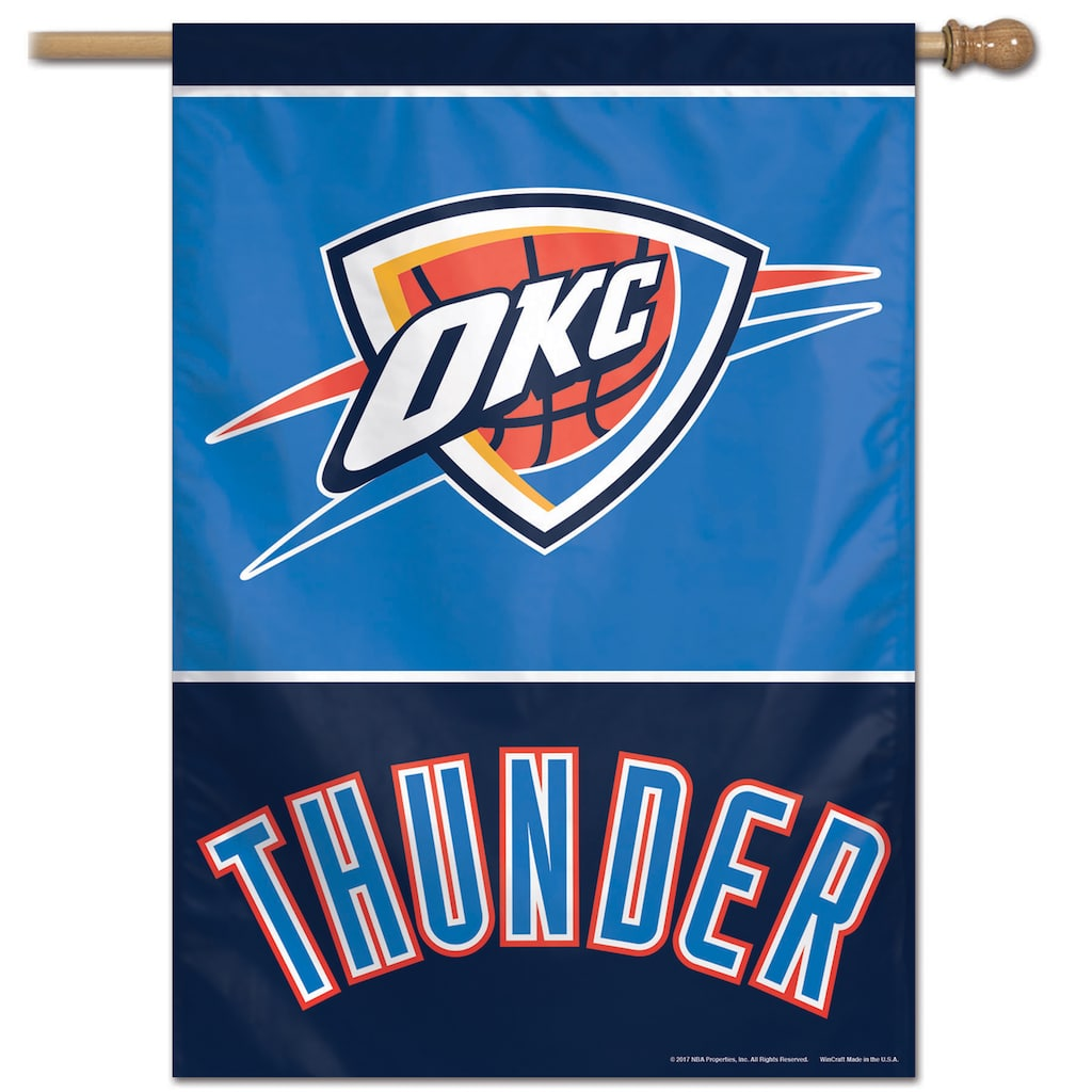 sports shoes f503b b04ce Oklahoma City Thunder Vertical Banner Flag | Products ...