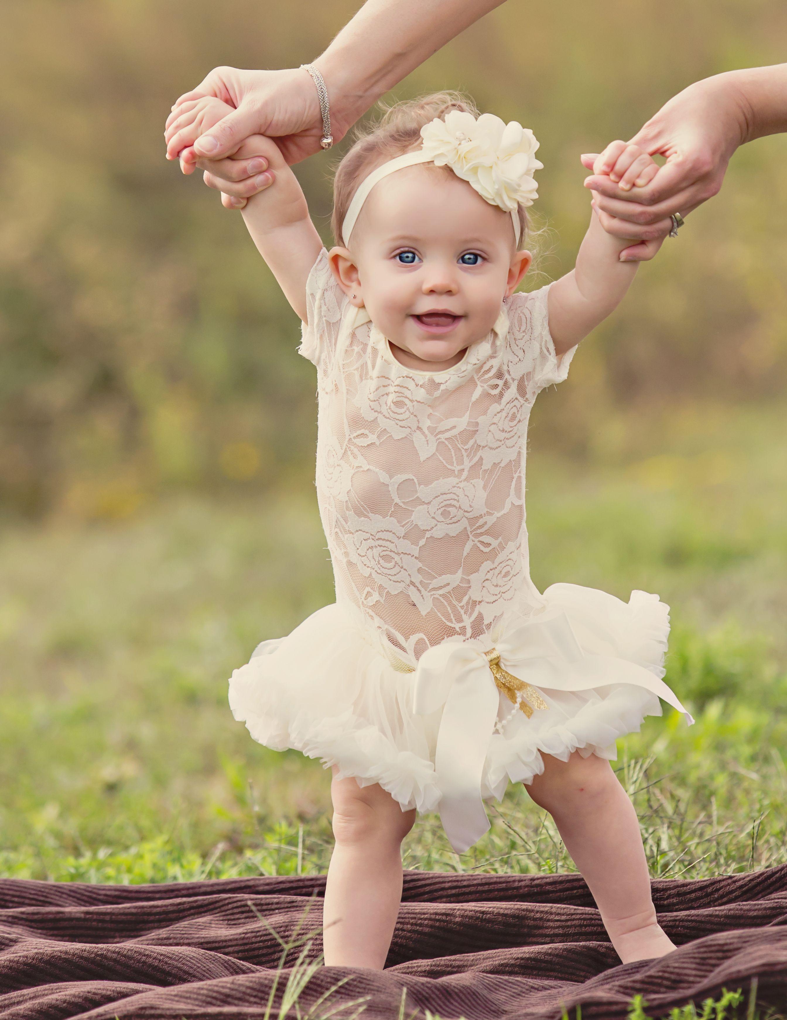 Adorable tutu dress 1st birthday tutu ivory baby dress