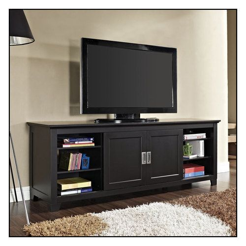 Walker Edison Tv Stand For Flat Panel Tvs Up To 70 Black