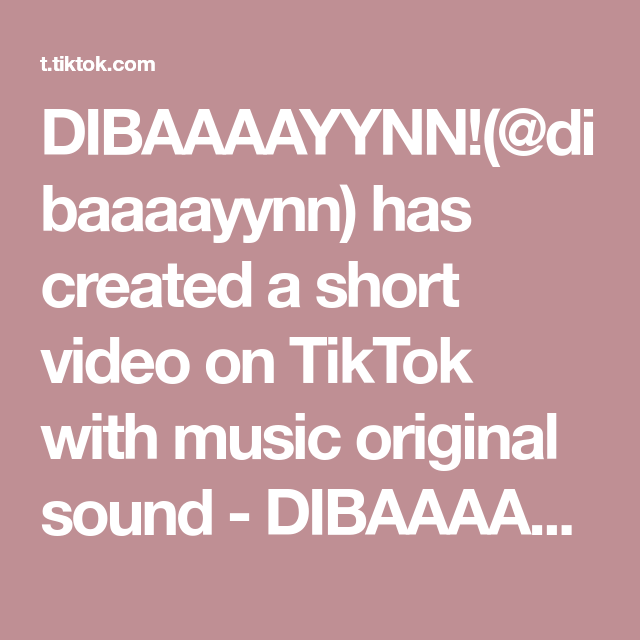 Dibaaaayynn Dibaaaayynn Has Created A Short Video On Tiktok With Music Original Sound Dibaaaayynn This Took Weeks For Me To Make Duet If You Want To Reac Di 2021