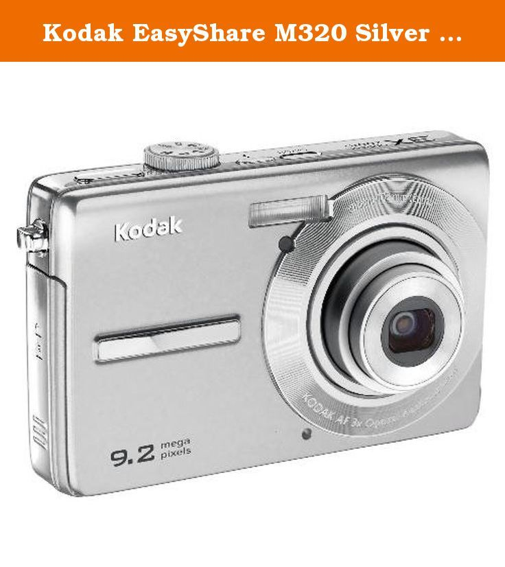Kodak EasyShare M320 Silver 9.2MP Digital Camera Bundle. The 9.2 ...