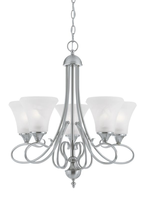 View the Thomas Lighting SL8115 5 Light Up Lighting Chandelier from the Elipse Collection at LightingDirect.com.