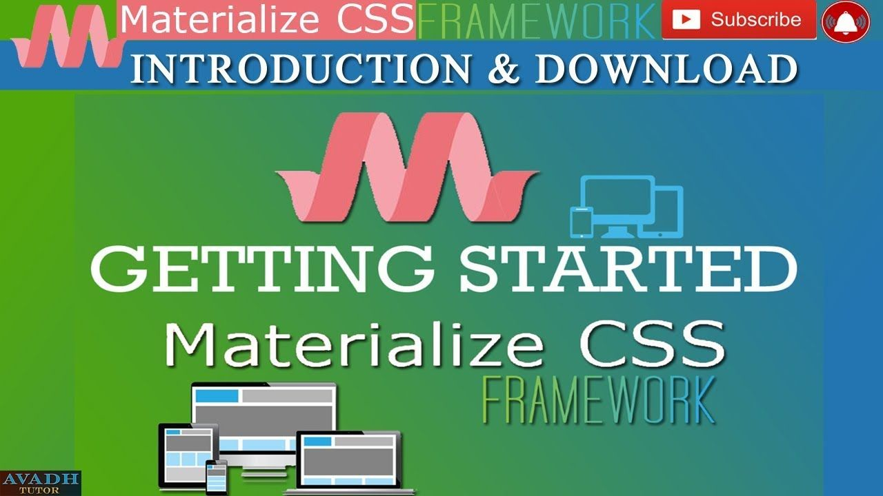 Materialized Css Material Design Materialized Css Tutorial