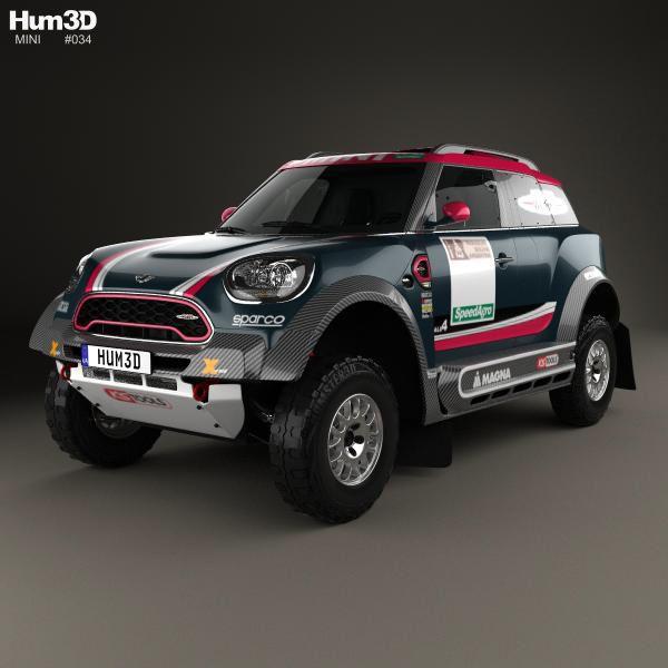 Mini John Cooper Works Rally 2017 3d Model From Hum3d.com