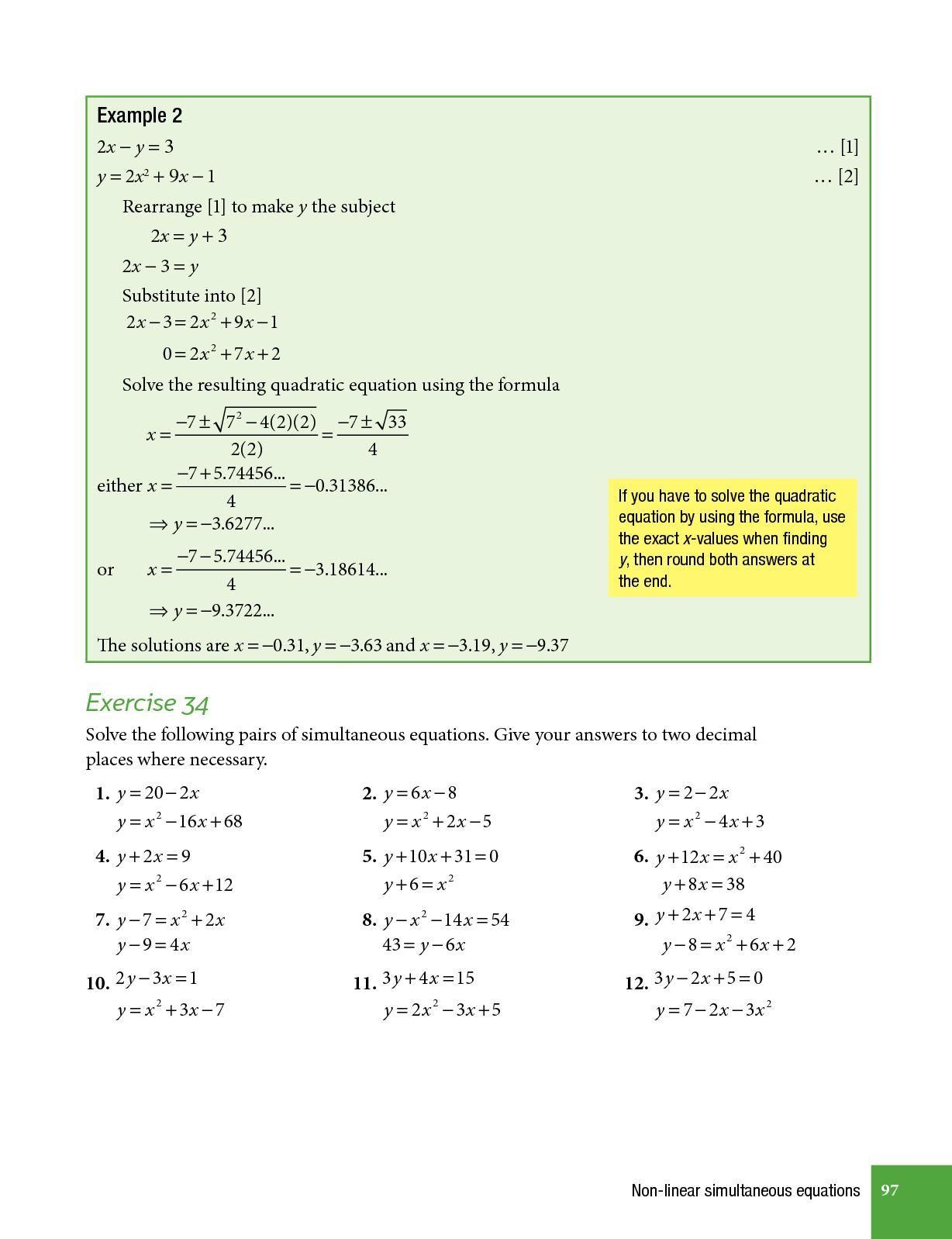 Pdf Print Complete Mathematics For Cambridge Igcse Fifth Edition Extended Cambridge Igcse Mathematics Quadratics